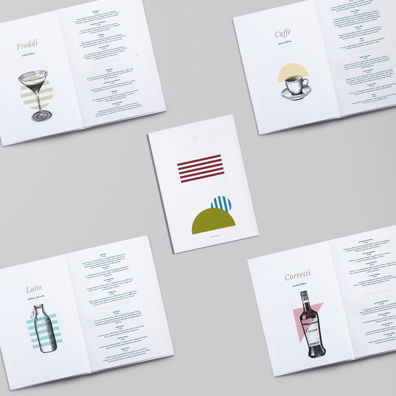 Baglioni hotels design italian style coffee menu visual