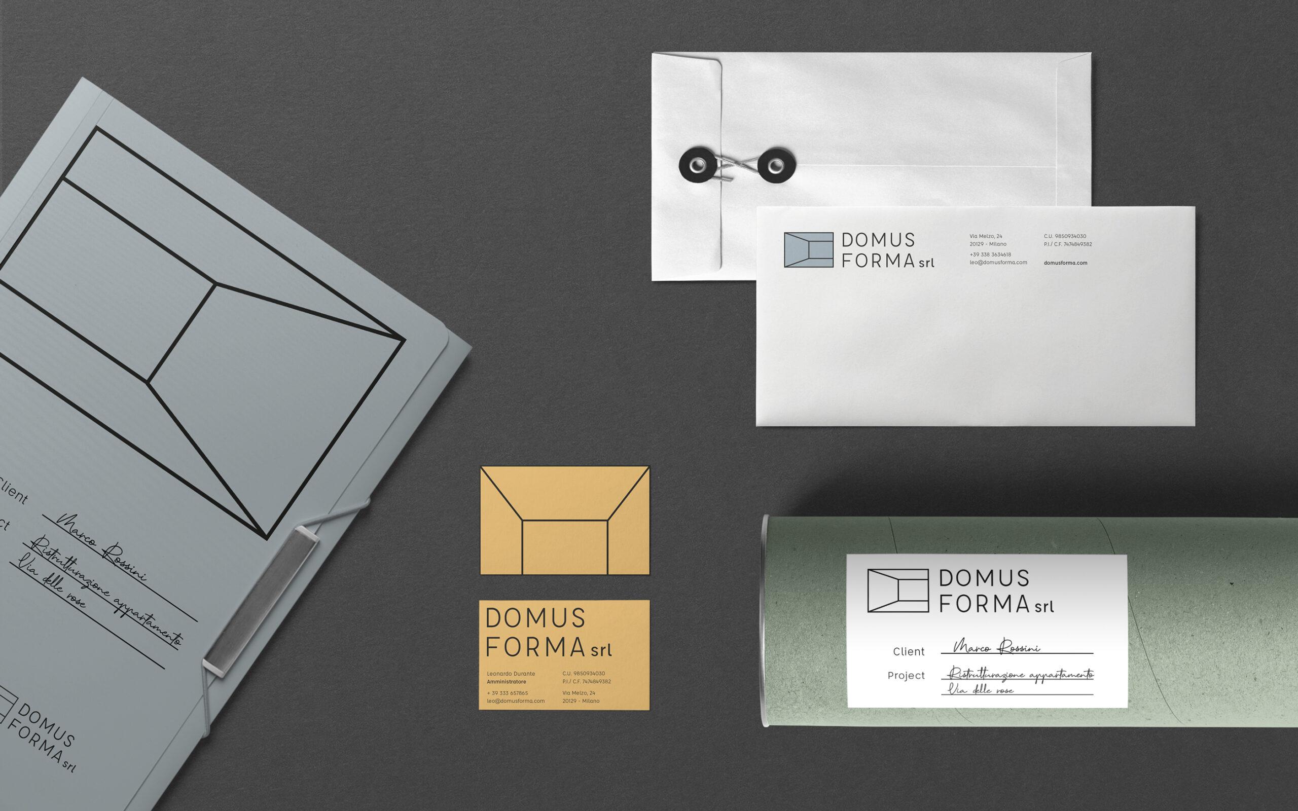 domus forma brand identity drogheria studio visual graphic