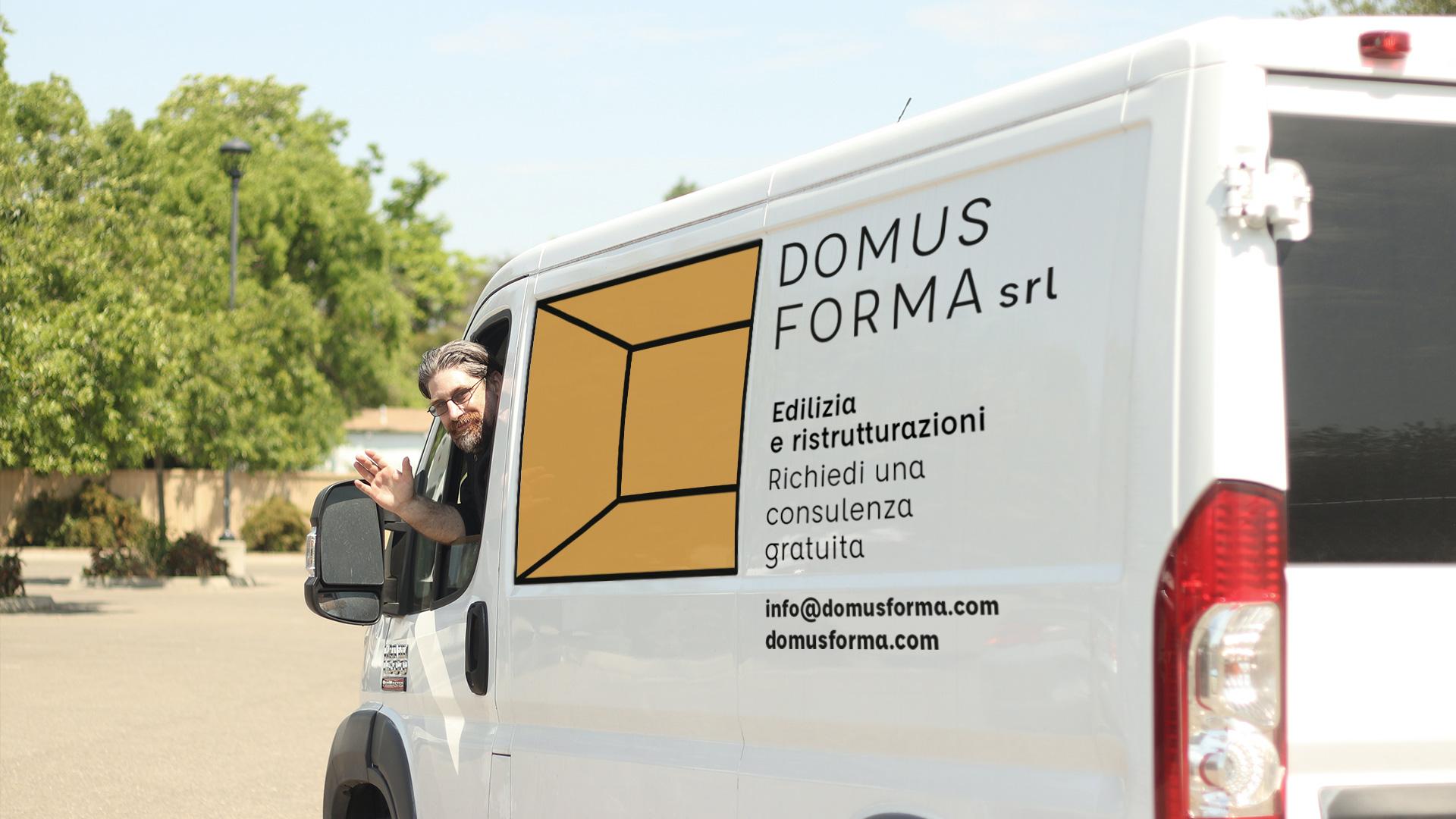domus forma brand identity drogheria studio visual graphic truck