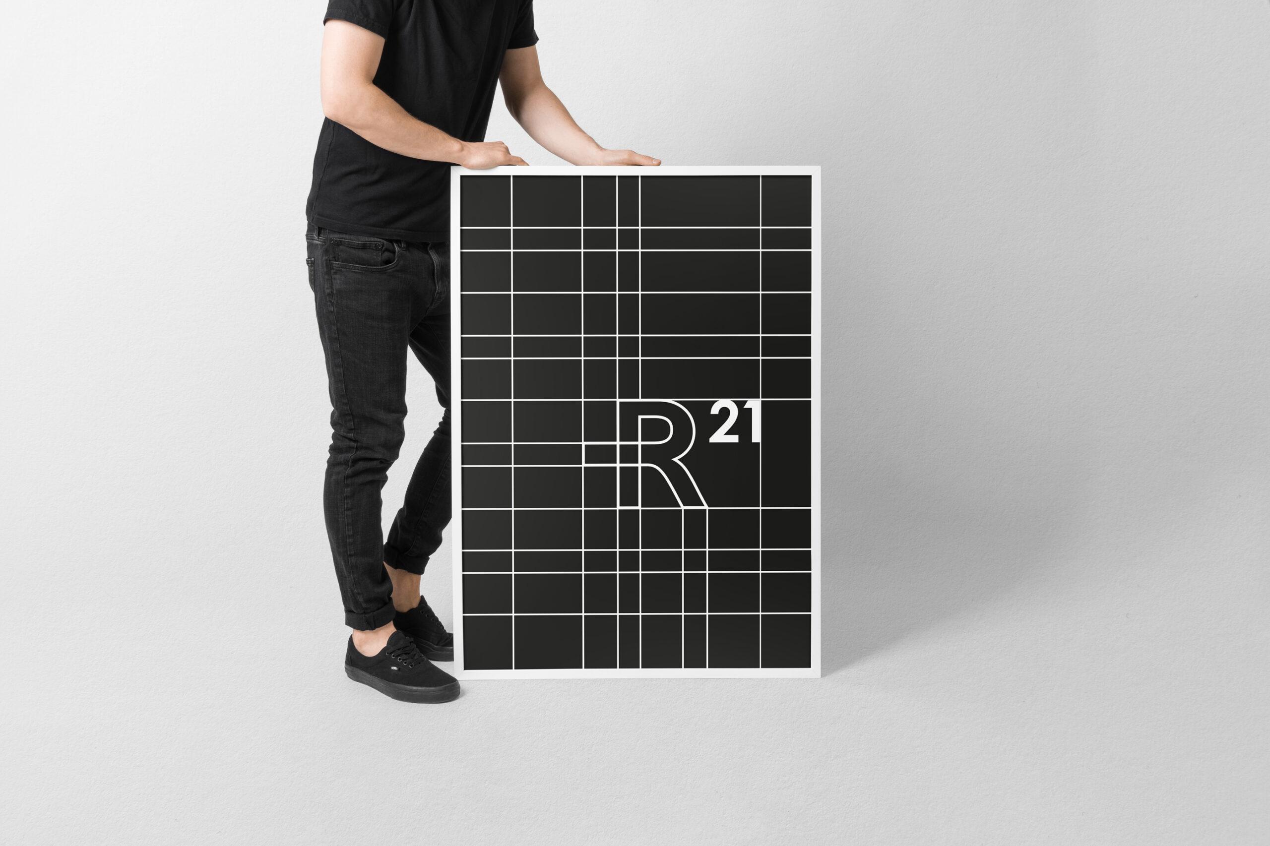 R21 brand identity design graphic drogheria studio poster