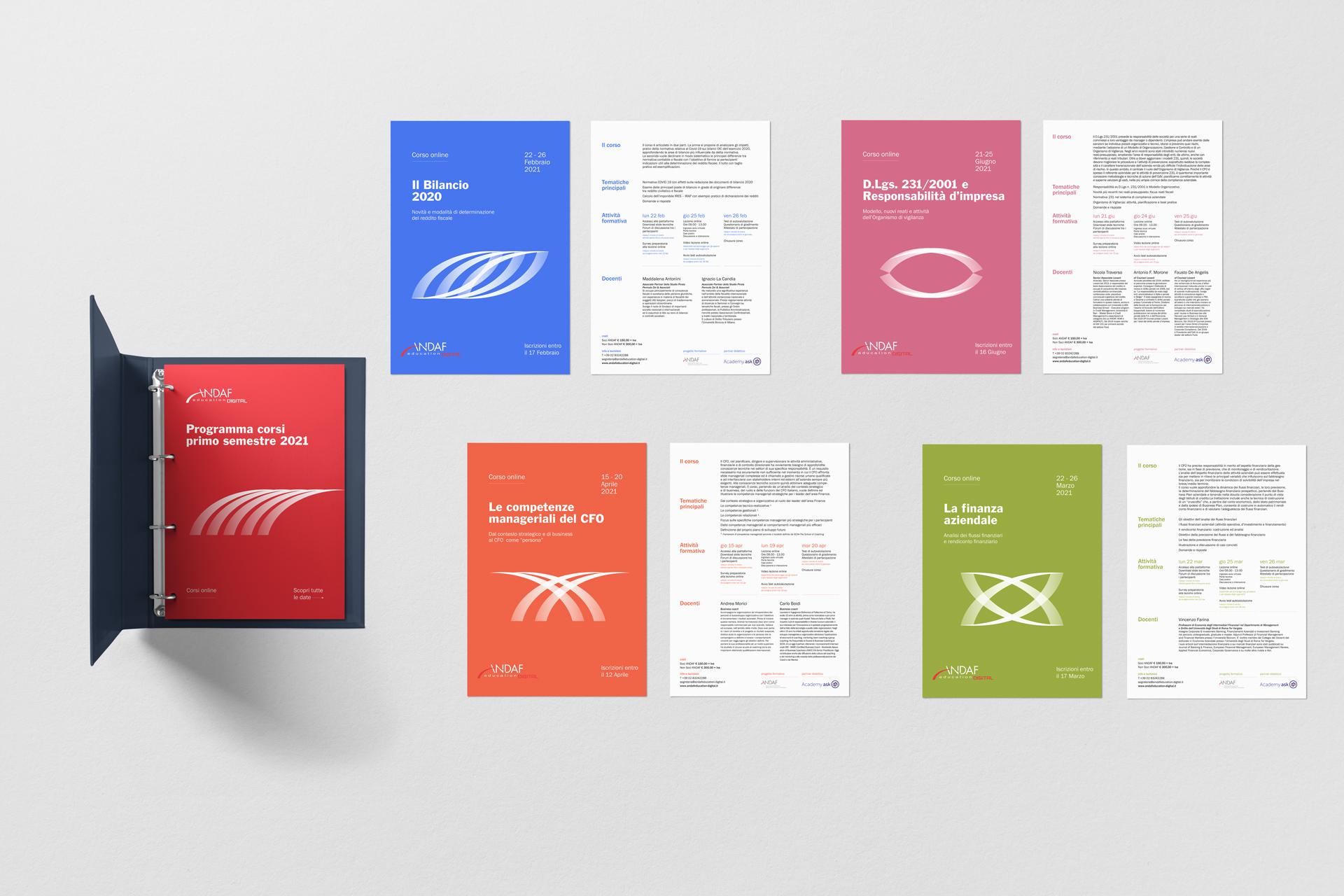 Andaf visual design graphic flyers drogheria studio identity