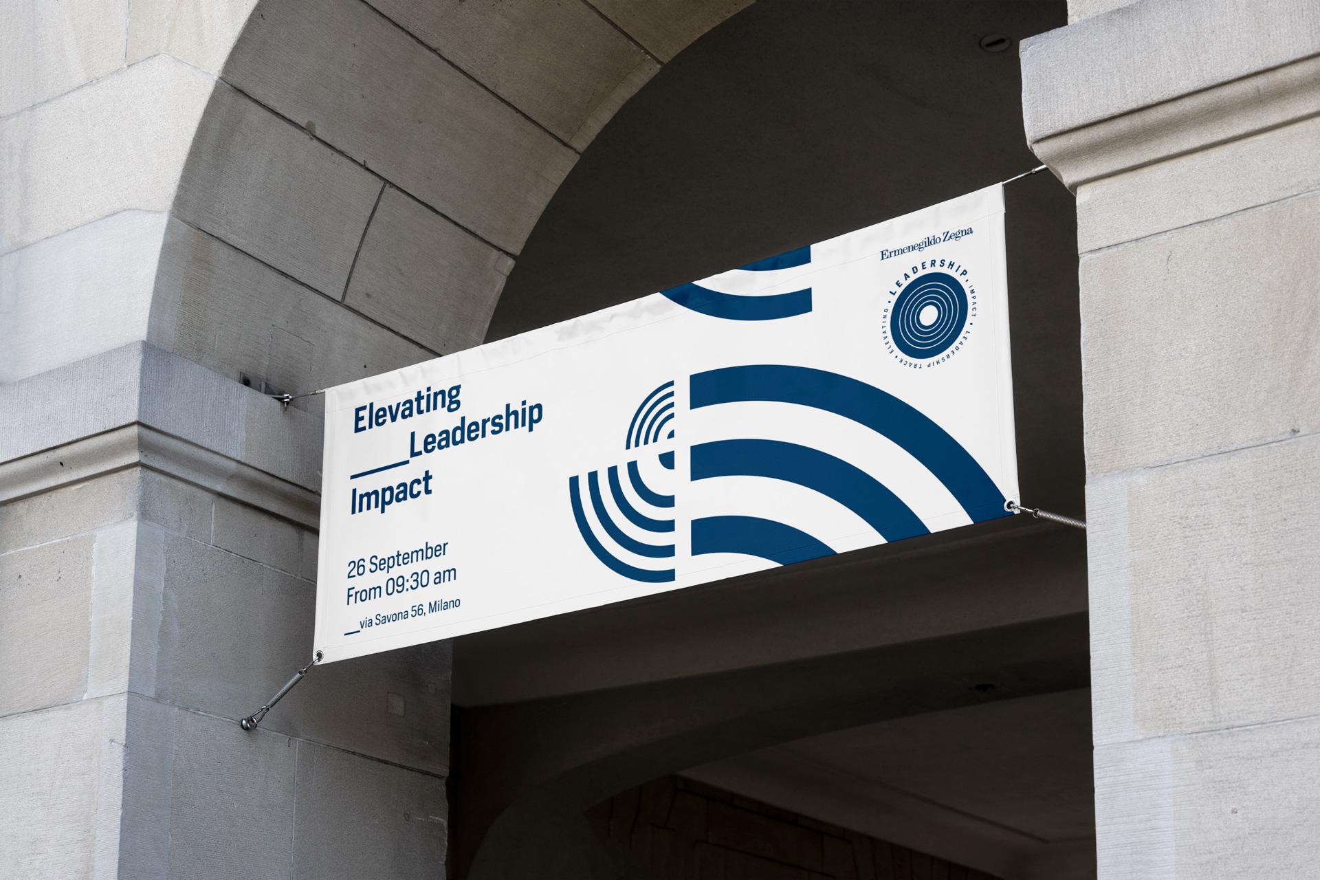 Ermenegildo Zegna banner leadership business event