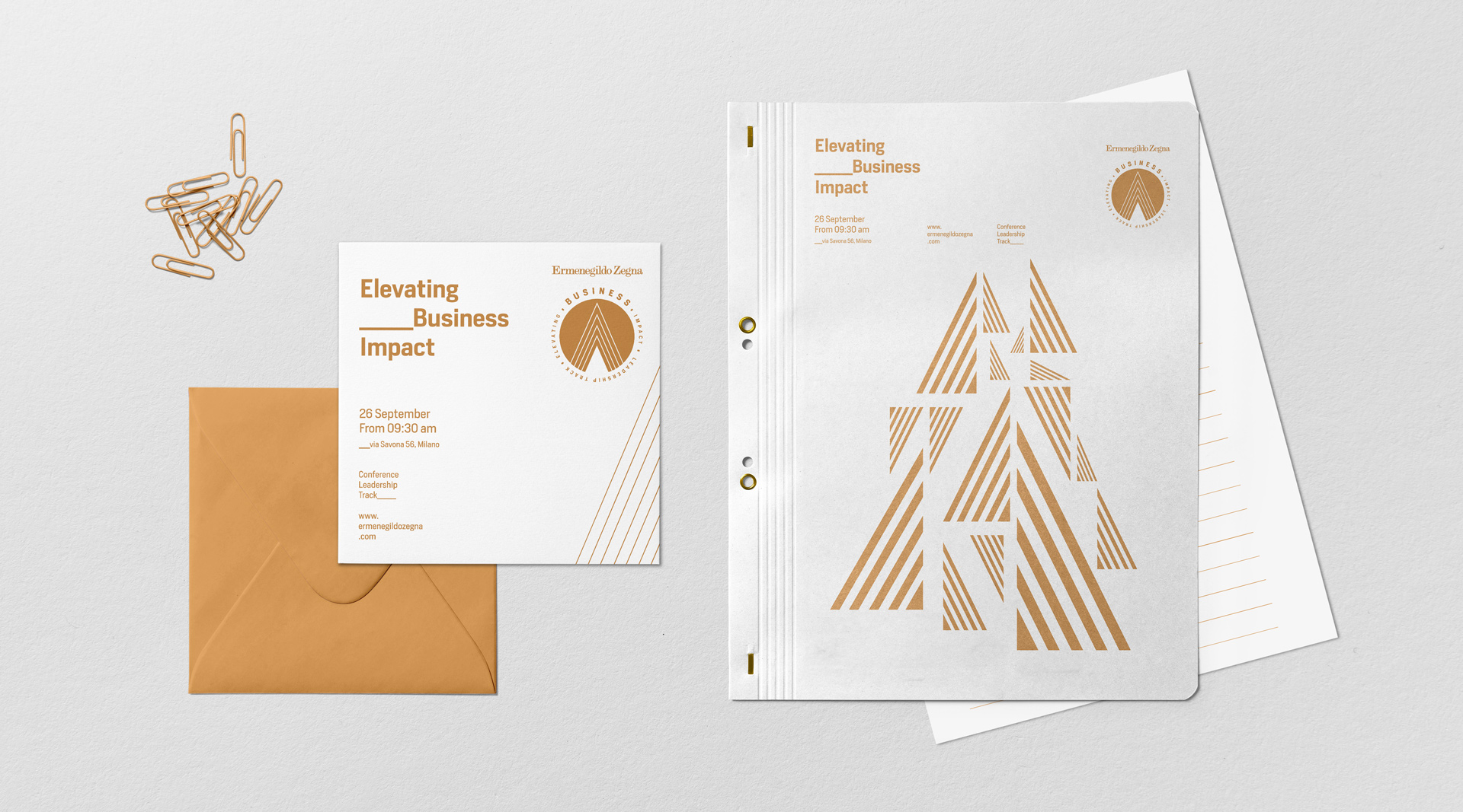 Ermenegildo Zegna visual leadership business event visual design graphic design fashion visual