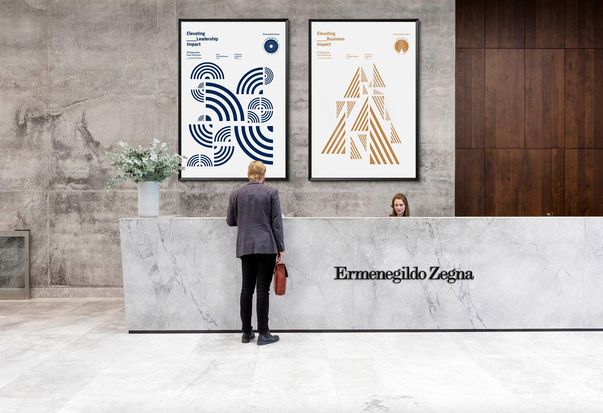 Ermenegildo Zegna visual reception leadership business event