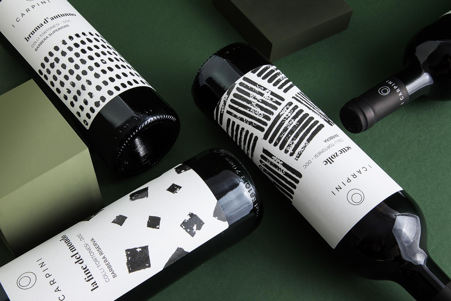 Dettaglio_Barbera_i_carpini_wine_packaging_design_wine_design_drogheria_studio_ROSSO_BASSA