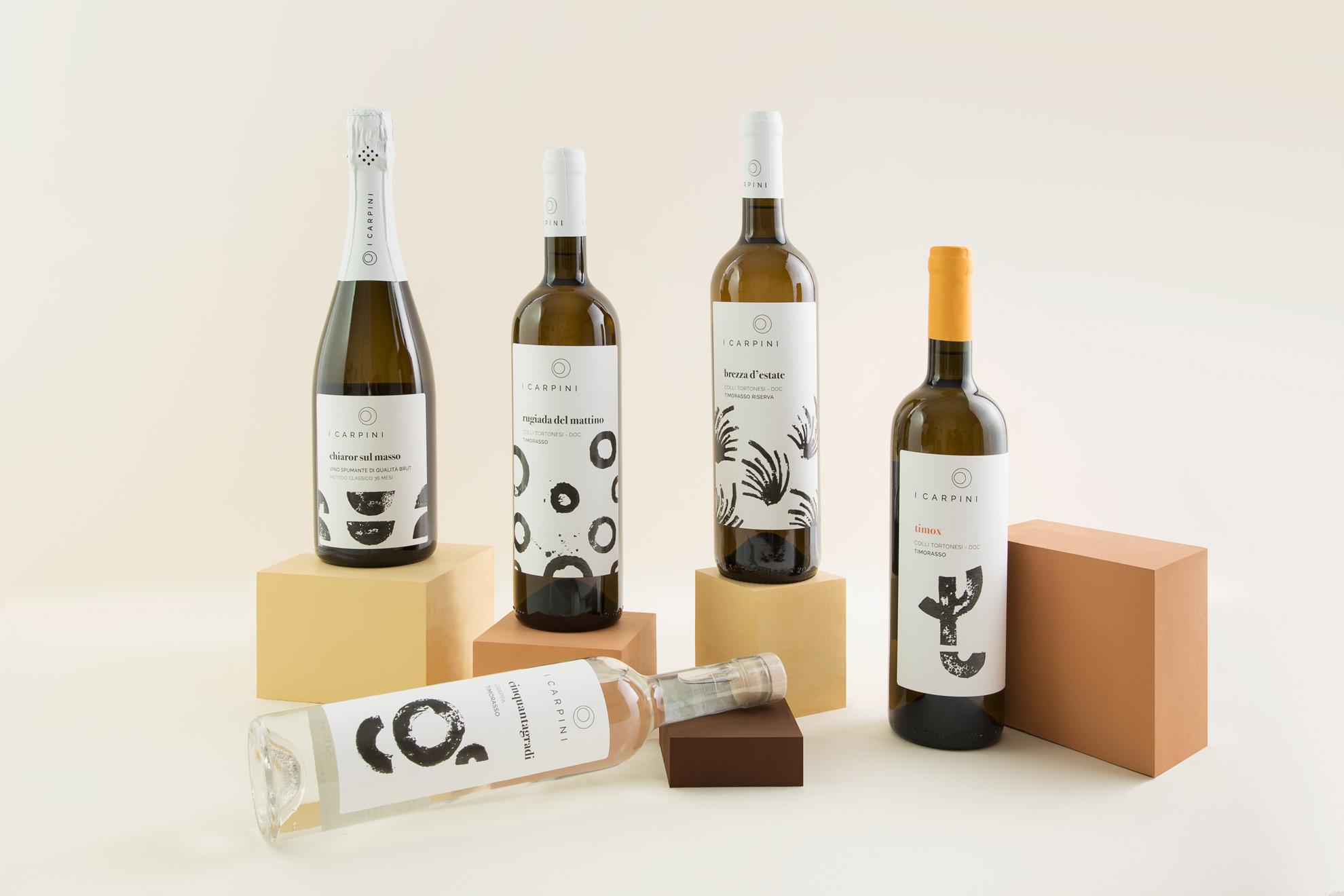 GROUPAGE_i_carpini_wine_packaging_design_wine_design_drogheria_studio_bianco_bassa